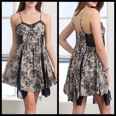 Lace Detailed Dress Bnwt