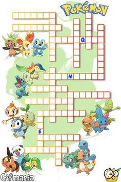 Crossword with all starter Pokemon. Do you know them all? #pokemon #crosswords…