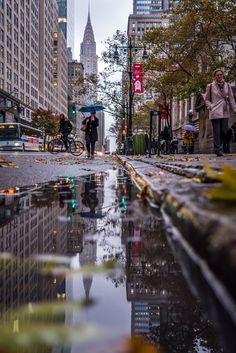"""Reflection of Chrysler Building on a wet Autumn day #NewYork #seeyourcity @EverythingNYC @NYC @NewYorkcom @discovering_NYC @nycfeelings"""
