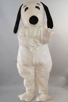 Snoopy Dog Mascot Costume Cartoon Character Fancy Dress Outfit warmcos