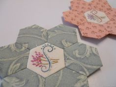 Pretty hexies and stitching!