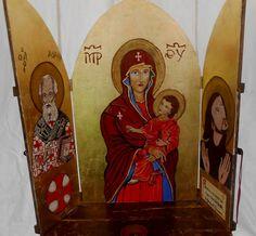 Pala d'altare su legno e dipinta  a mano da Marco Antonio Spadini