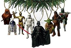 """Disney's """"Star Wars"""" Holiday Ornament Set- (8) PVC Figure Ornaments Included - Limited Availability. Shopswell 