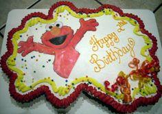 Elmo Cupcake Cake #2