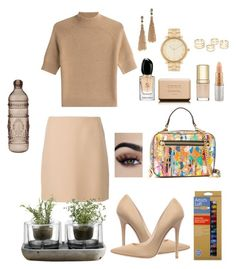"""""""🎨"""" by breeyvonne ❤ liked on Polyvore featuring Theory, Jimmy Choo, Nude, Milly, MAC Cosmetics, Baci, Dolce&Gabbana, Chanel, Giorgio Armani and Michael Kors"""