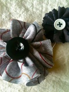 Fabric and Button embellishment