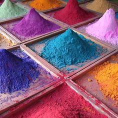 India during Holi, the Festival of Colours World Of Color, Color Of Life, Things Organized Neatly, Indian Colours, Moroccan Colors, Color Swatches, Chandigarh, Over The Rainbow, Color Palettes