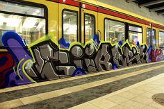 Gueros  Graffiti on Trains,  S-Bahn Berlin
