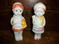 Vintage Bisque Dolls Boy and Girl Wintertime by RedRiverAntiques, $18.99