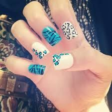 uñas gelish animal print - Buscar con Google