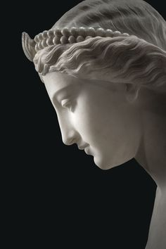 """marmarinos: """"Detail of a neoclassical statue of a naiad or nymph by Giovanni Battista Lombardi, dated to 1858. Marble. Source: Sotheby's. """""""