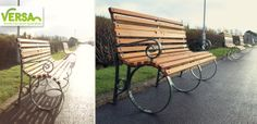 Edwardian timber and steel seat.  Versa was commissioned to design and manufacture an heritage seat for the Kings Garden project at  Southport. 83 seats were created to renovate the area that had to be inkeeping with the original heritage design of the existing street scene. The Edwardian takes on the appearance of the classical 'park bench'.  www.versauk.co.uk