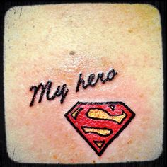 Tim and my sister will be getting tattoos with the Superman symbol but with a D in the middle instead of an S, for their Super Hero, Dilly. Superman Tattoos, Spiderman Tattoo, Daddy Tattoos, Future Tattoos, Tatoos, Symbol Tattoos, Body Art Tattoos, Hero Tattoo, Ink Addiction