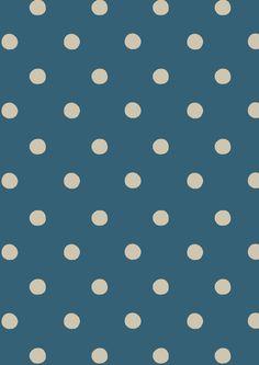 Spot Deep Blue   Cath Kidston classic polkadot print design