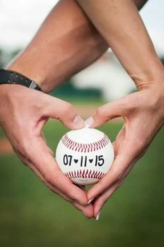 Save the date, baseball engagement pics, baseball heart, Ohio University