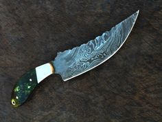 HANDMADE DAMASCUS steel HUNTING ( fancy ) knife with color camel bone HANDLE  #HANDMADE with very handsome price is a ending soon