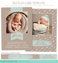 #24 Birth Announcement Template for Photographers - BA155