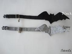 Cat collar-adjustable collar-custom collar-crochet cat by sansli
