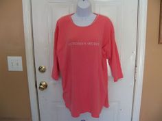 Victoria's Secret Pink 3/4 Sleeve Nightgown Size Small Women's EUC #VictoriasSecret #nightGown