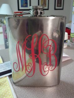 Hate monogram things usually, but this is adorable. 21st Birthday gift for my daughter's best friend