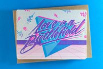 Valentine's Day is the perfect excuse to send a letter of love. So we asked two letterers that we love, hailing from different sides of the globe, to work on. 80s Design, Graph Design, Design Art, Lettering Design, Hand Lettering, New Retro Wave, Creative Jobs, Valentines Design, Creative Portfolio