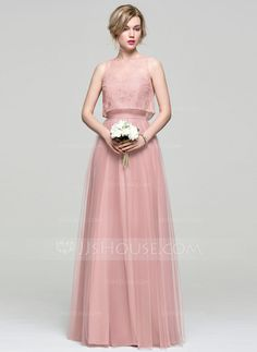 A-Line/Princess Sweetheart Floor-Length Zipper Up Strapless Sleeveless Yes Dusty Rose Spring Summer Fall General Plus Tulle Height:5.7ft Bust:33in Waist:24in Hips:34in US 2 / UK 6 / EU 32 Bridesmaid Dress