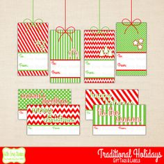 Holiday Gift Tags Christmas Gift Tags Printable by WithEnvyParties, $3.50