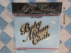"""Baby Afghan Cross Stitch Cloth 29"""" x 45"""" 18 Count - NEW, UNOPENED by M.C.G. Textiles by WhimseysByAnne, $10.00"""