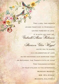 Wedding Invitation Wording Bride and Groom Host Modern