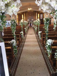 Simple Church Wedding, Church Wedding Flowers, Wedding Pews, Wedding Isles, Indoor Wedding Ceremonies, Chapel Wedding, Wedding Chairs, Garden Wedding, Wedding Isle Decorations
