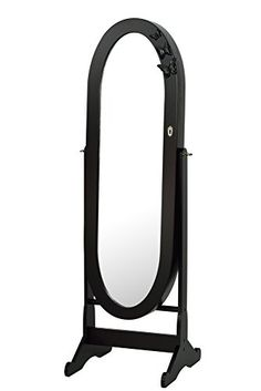 Kitchen Cabinets Ideas | ViscoLogic Oval Mirrored Jewelry Cabinet Armoire Stand Mirror Necklaces Bracelets Rings DARK BROWN * See this great product.(It is Amazon affiliate link) #follow
