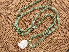 Magnesite Necklace with Buddha Pendant OOAK Ethnic by Stone and Stem.  #zen #buddha #boho #unisexjewelry