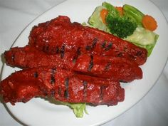 Marinated With Special Homemade Sauce Served Steamed Vegetables And Sweet Sour Awesome Thai Food Forked
