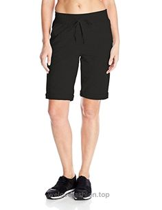 Hanes Women's French Terry Bermuda Short, Black, Large  BUY NOW     $6.27    Hanes women's French terry bermuda pocket short is cotton rich for extra softness. French terry fabric is smooth outside and brushed inside for extra comfort. Cuffed l ..