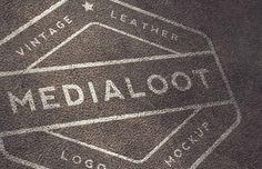 Medialoot - Vintage Leather Logo Mockups