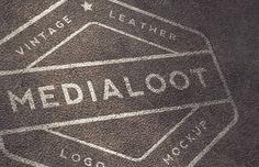 Medialoot - Vintage Leather Logo Mockups