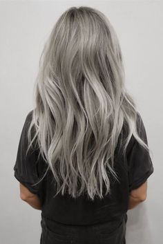 silver hair color, silver hairstyles. I told babe i wanted grey/silver hair years ago... Now look at this.. I coulda been a trend setter but he said i was crazy..