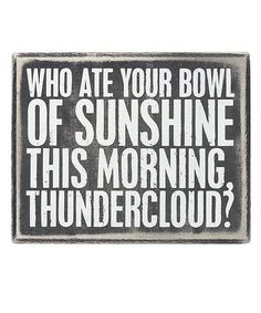 'Bowl of Sunshine' Box Sign | something special every day
