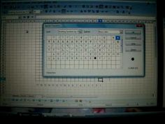 Creating knitting Charts with OpenOffice try with crocheting