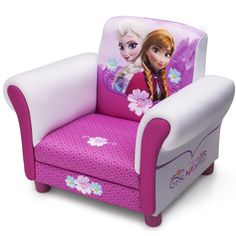 Childs Disney Frozen Anna & Elsa Arm Chair Upholstered Sofa Room Decor - Most Wanted Christmas Toys Frozen Disney, Disney Frozen Bedroom, Frozen Kids, Kids Bench, Kids Play Table, Kids Stool, Disney Furniture, Kids Bedroom Furniture, Furniture Ideas