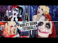 4 HARLEY QUINN TUTORIALS IN 6 MINUTES - YouTube