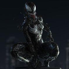 She-Venom, Andres Rios Marvel Dc, Marvel Venom, Marvel Fan Art, Marvel Villains, Marvel Comic Universe, Marvel Heroes, Marvel Characters, Venom Girl, New Venom