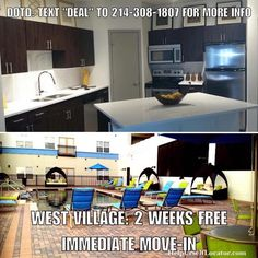 """Deal of the Day: WEST VILLAGE: 2 WEEKS FREE for immediate move-in. Apartment is paying 125% of 1 months rent as commission 1/2 of which is urs as a thank you for using our services. Units starts at $1085. Live in the middle of West Village without the high prices. A little bit of an older complex both eye just renovated the public spaces. Text: DEAL"""" to 214-308-1807 for more info.  Don't forget to put down """"Help Urself Leasing"""" when filling out ur lease application to get back 50% of the…"""