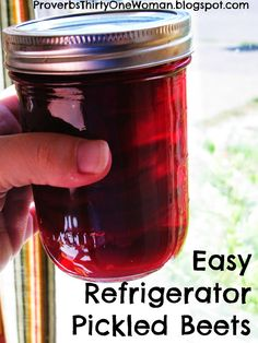 Easy Refrigerator Pickled Beets -- Have a small amount of beets on hand? Want something quick and easy to do with them? These delicious refrigerator pickled beets are the answer! Beet Recipes, Canning Recipes, Vegetable Recipes, Canning 101, Fun Recipes, Health Recipes, Refrigerator Pickled Beets, Refrigerator Pickles, Pickled Beets Recipe
