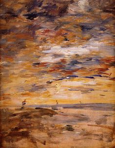 Sky at Sunset, Eugene Boudin. French (1824 - 1898)