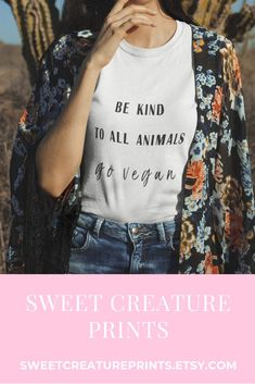 This vegan shirt is perfect to wear to any animal rights protest to raise awareness for veganism! Click through to view more vegan shirts. #vegan #veganshirt