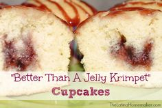 """""""Better Than A Jelly Krimpet"""" Cupcakes. These cupcakes are delicious and so easy to make, you'll feel like you skipped a step (or two) in the process."""
