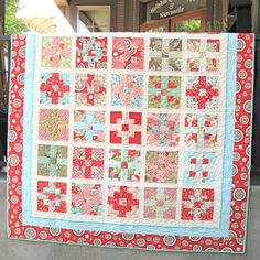 Picnic Roll Up Quilt. Quilt is available for purchase. Call Hollyhill Quilt Shoppe & Mercantile at 503-607-0600 for more information.