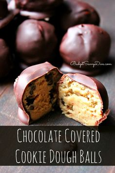 If you like cookie dough this is perfect for you Chocolate Covered Cookie Dough Balls Recipe #cookiedough #chocolate #budgetsavvydiva budgetsavvydiva.com