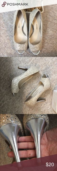 Audrey Brooke Sparkle Heels ⭐️ Like New! Worn once to a wedding. Audrey Brooke Shoes Heels